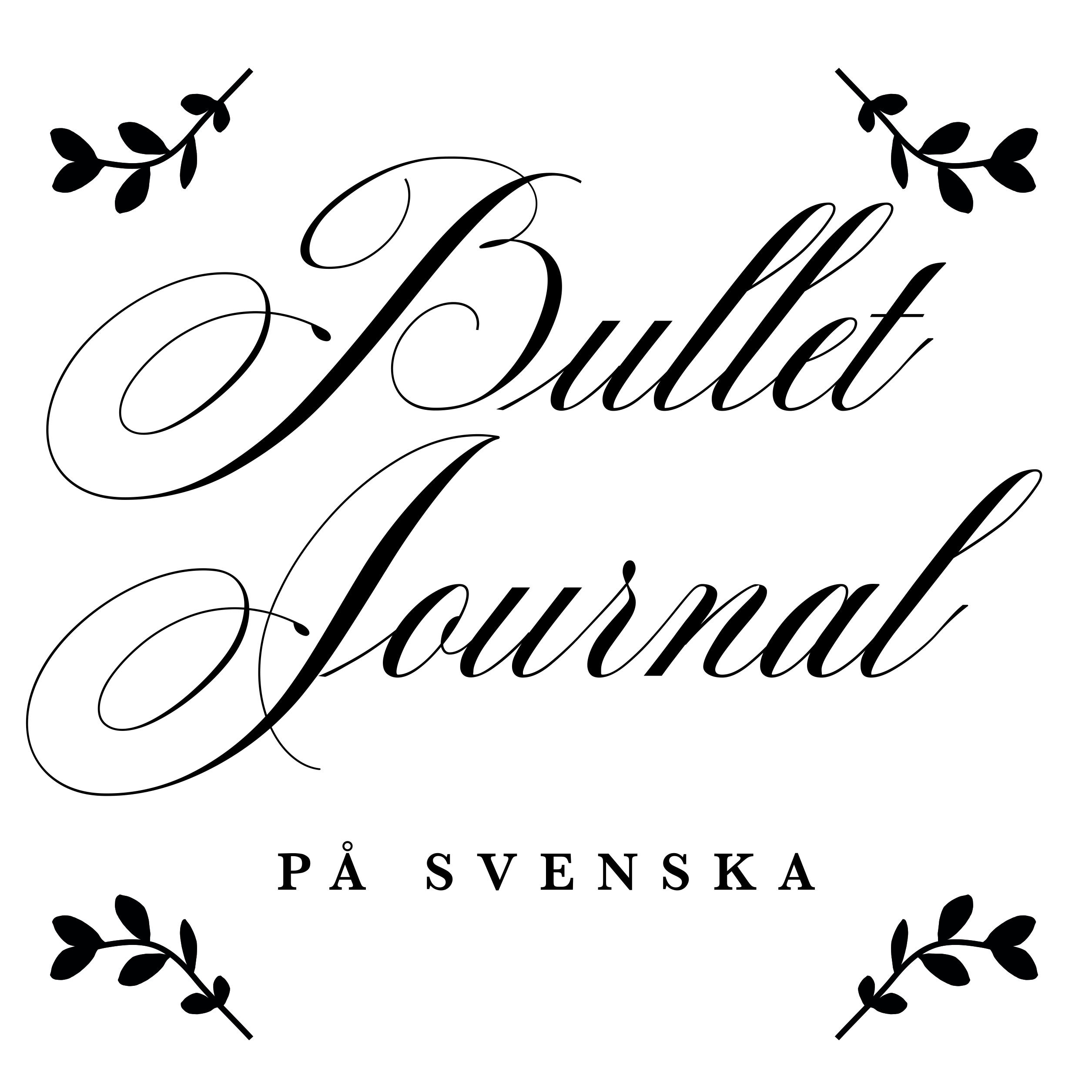 Bullet journal på svenska